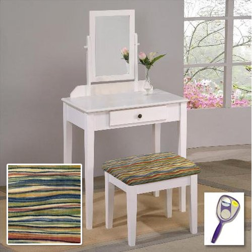 Outstanding The Furniture Cove New White Finish Make Up Vanity Table With Mirror Themed Bench Southwestern Chevron Ibusinesslaw Wood Chair Design Ideas Ibusinesslaworg