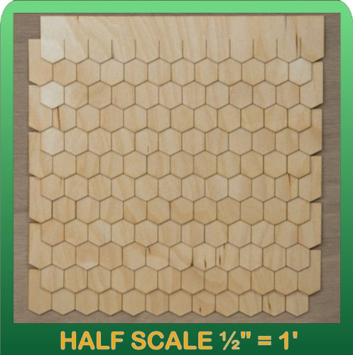 "Greenleaf Doll Houses 1/2"" Scale Miniature Hexagon Shingle Strips Half Scale"