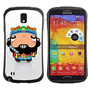 Paccase / Suave TPU GEL Caso Carcasa de Protección Funda para - Funny Cool Awesome Guy - Samsung Note 3 N9000 N9002 N9005