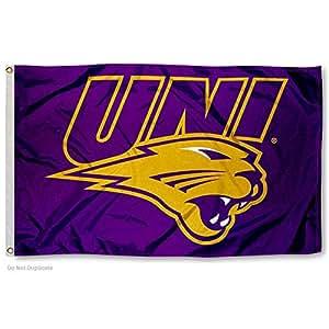 Amazon.com : Northern Iowa Panthers UNI Logo Flag : Sports ...