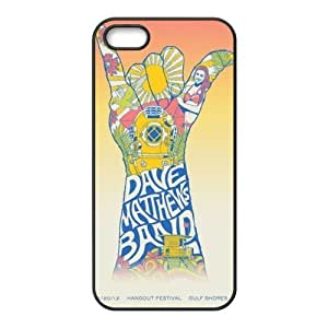 the Case Shop- Customizable Dave Matthews Band iPhone 5 and iPhone 5S TPU Rubber Hard Back Case Cover Skin , i5xq-350