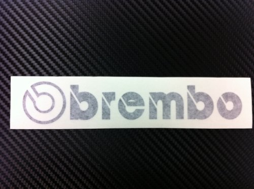 - 1 Racing Decal Sticker for Brembo (New) Black Size 6.5''x 1.25''
