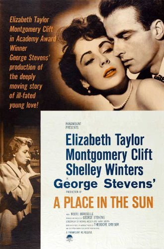 A Place in the Sun Movie Poster (27 x 40 Inches - 69cm x 102cm) (1951) -(Montgomery Clift)(Elizabeth Taylor)(Shelley Winters)(Anne Revere)(Keefe Brasselle)(Fred Clark) (Montgomery Clift A Place In The Sun)
