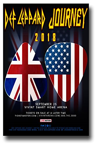 Def Leppard and Journey Poster Concert Promo 11 x 17 inches 2018 Tour Picks