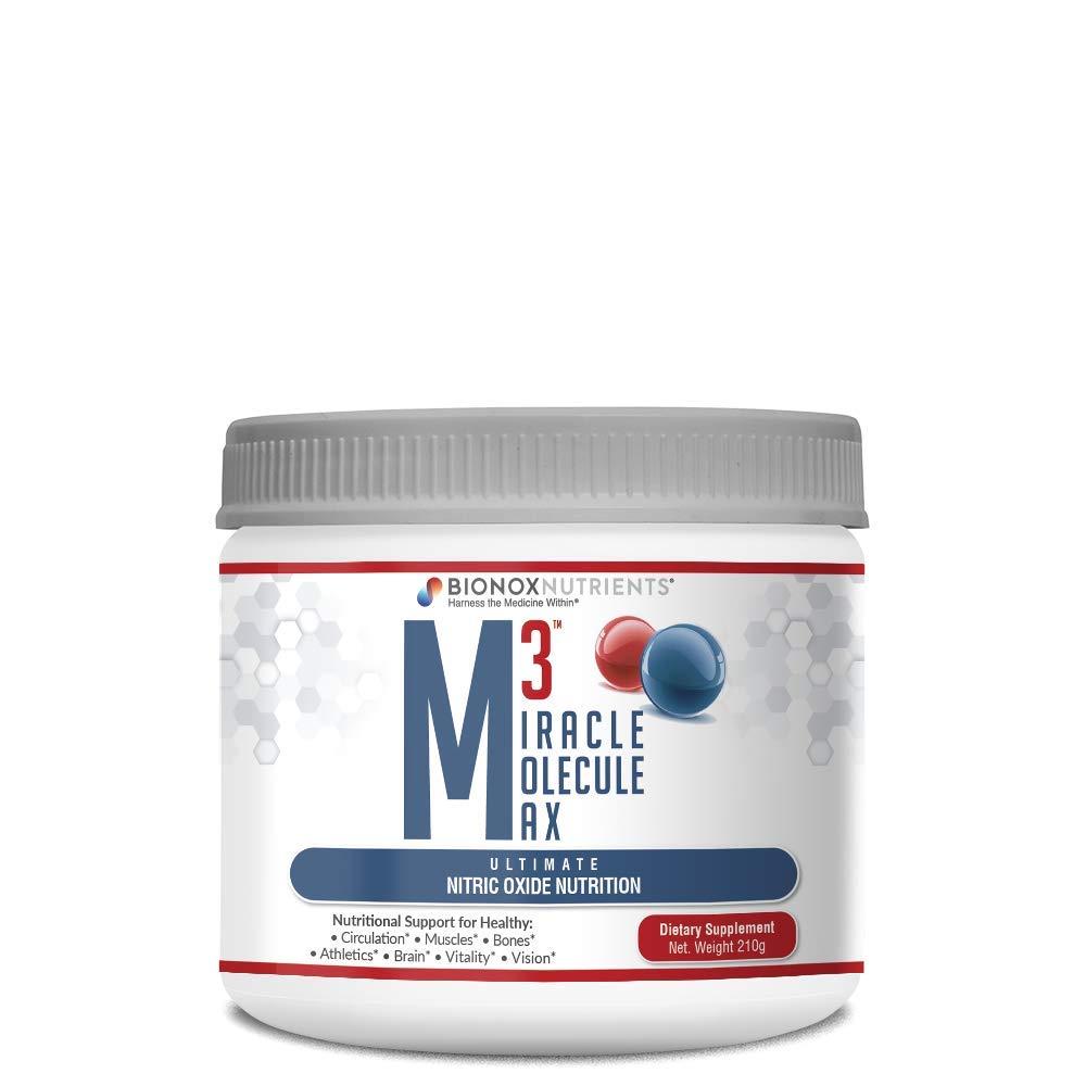 BioNox Nutrients M3 Miracle Molecule Max - Cardiovascular Support Nitric Oxide Powder - L Arginine + L Citrulline + Beets - No Caffeine, Blood Pressure Support Supplement - Great Taste 15 Days by BioNox Nutrients