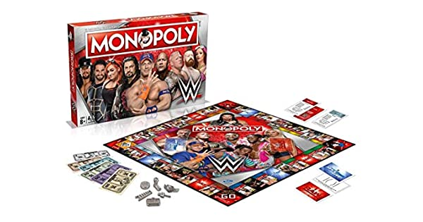Amazon.com: Monopoly WWE Juego de mesa: Toys & Games