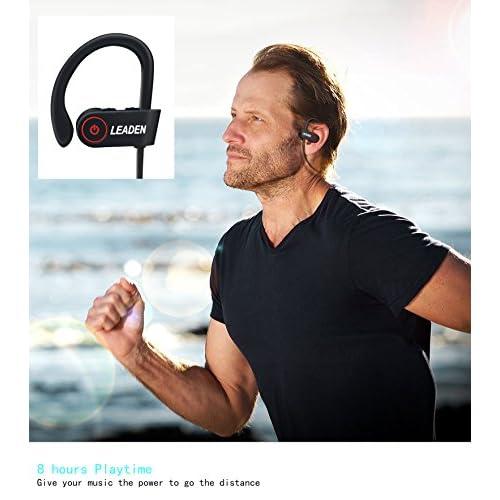 delicate LEADEN Bluetooth Headsets, U8 in Ear Bluetooth Headphone, Built-in Mic Earbuds, Stereo Sound, Noise Cancelling IP68 Waterproof Wireless Earphone for Outdoor Sports