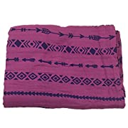 Bambino Land Muslin Swaddle Blanket - Solid Printed (Berry Arrows)