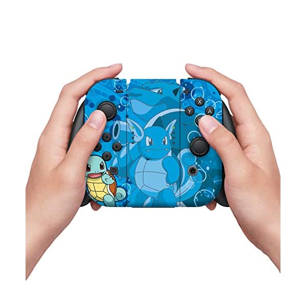 Controller Gear Nintendo Switch Skin & Screen Protector Set - Pokemon - Squirtle Evolutions Set 1 - Nintendo Switch 5