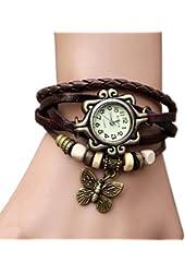 Domire Fashion Accessories Trial Order New Quartz Fashion Weave Wrap Around Leather Bracelet Lady Woman Leaf Wrist Watch