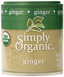 Simply Organic Ginger Root Ground Certified Organic, 0.42-Ounce Containers (Pack of 6)