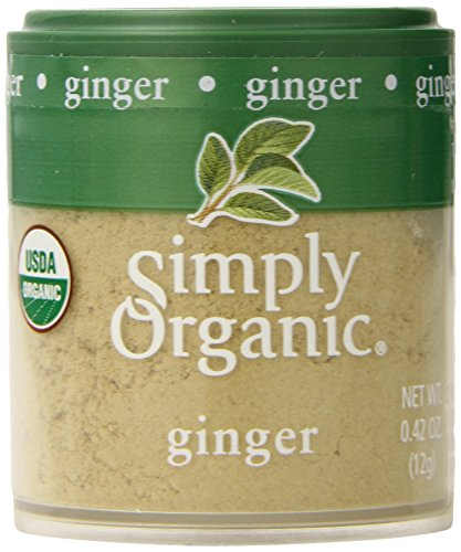 Simply Organic Ginger - Simply Organic Ginger Root Ground Certified Organic, 0.42-Ounce Containers (Pack of 6)