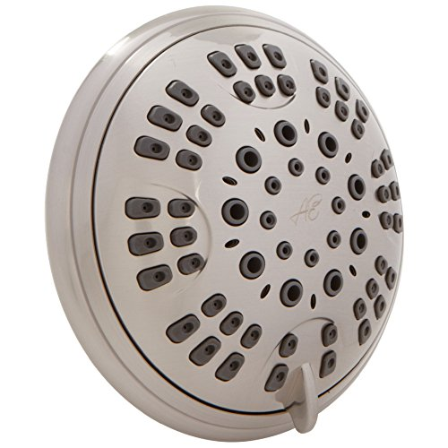 Brushed Nickel Adjustable Shower - 6 Function Adjustable Luxury Shower Head - High Pressure Boosting, Wall Mount, Bathroom Showerhead For Low Flow Showers - Brushed Nickel