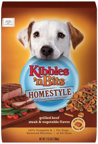 Kibbles 'n Bits Homestyle Grilled Beef & Vegetable Flavors Dry Dog Food, 17.6-Pound