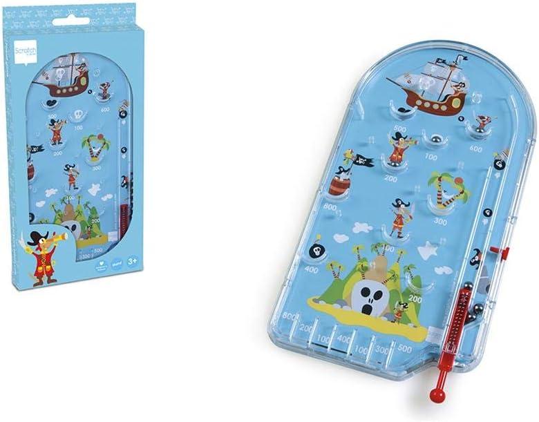 Scratch Pirates - Juego de Pinball (Azul): Amazon.es: Juguetes y juegos
