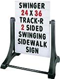 Aarco Products ROC-1 Swinger- Message Board Sidewalk Sign