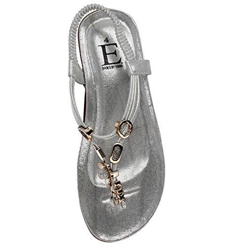 Footwear Foster Sandali Flower Donna da Ragazza' Silver qqrwCdP
