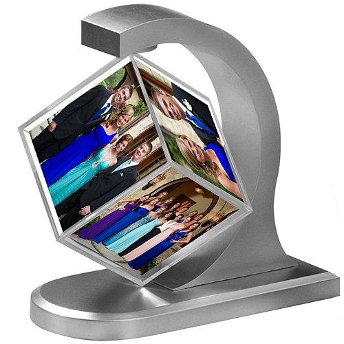 Shindigz Silver Floating Photo Cube