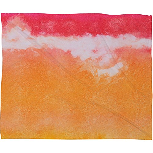 Tangerine Tie Dye (Deny Designs Laura Trevey Tangerine Tie Dye Fleece Throw Blanket, 30 x 40)