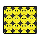 Smiley Non-Slip Rubber Mousepad Gaming Mouse Pad
