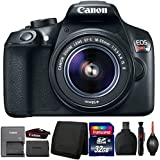 Canon EOS Rebel T6 18MP Digital SLR Camera with 18-55mm IS II Lens and Accessory Bundle