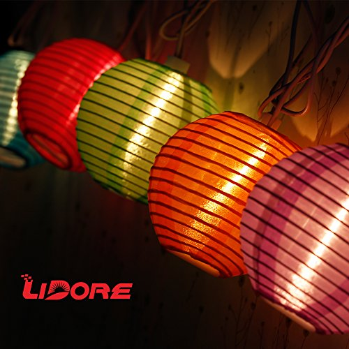 Lidore Multi Color Chinese Janpanese Mini Nylon Lantern