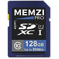 MEMZI PRO 128GB Class 10 80MB/s SDXC Memory Card for Nikon D7500, D5600, D3400, D7200, D5500, D500, D750, Df, D7100, D7000, D5300, D5200, D5100 SLR Digital Cameras