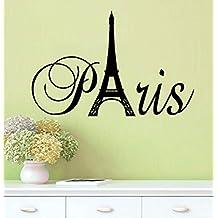 Lchen Fashion Paris Eiffel Tower Removable PVC Wall Sticker Home Kids Room Decor Art Decal (Small)