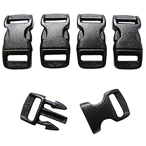 FMS Ravenox 3/8-Inch Contoured Buckle | Quick Release Buckle with Curved Side Release | (10 Pack)