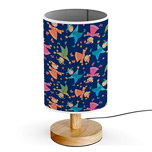 ARTSYLAMP - Wood Base Decoration Desk Table Bedside Light Lamp [ Kid in Carnival Costume ]