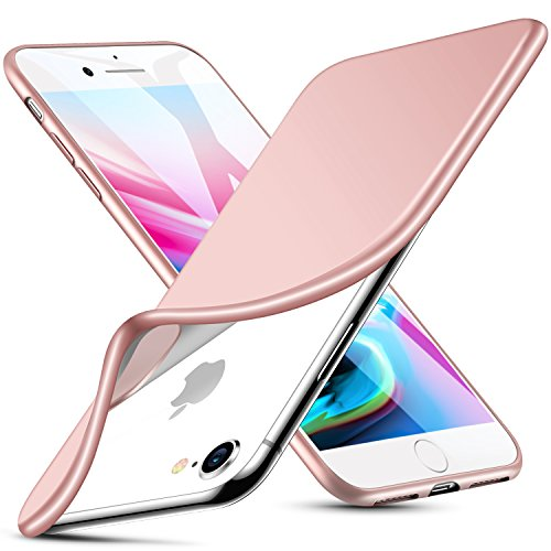 ESR Case for iPhone 8/7, iPhone 8, Solid Soft TPU Cover [Support Wireless Charging] for 4.7 iPhone 8 (2017 Release)/iPhone 7 (2016 Release)(Solid Pink)