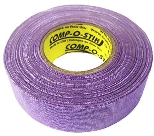 3 Rolls of Comp-O-Stik Lavender Hockey Lacrosse Bat Cloth Stick Tape ATHLETIC TAPE (3 Pack) Made In The U.S.A. 1'' X 60'