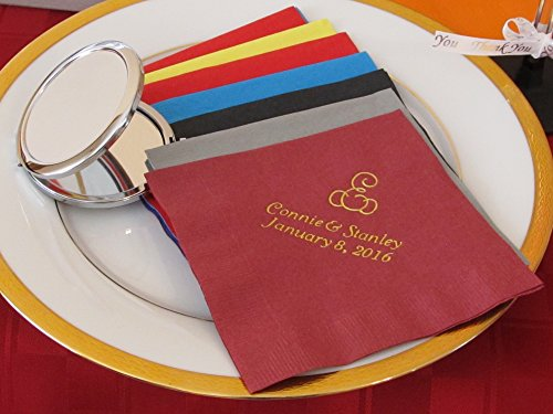 50 personalized luncheon napkins wedding favors custom printed napkins baby shower]()