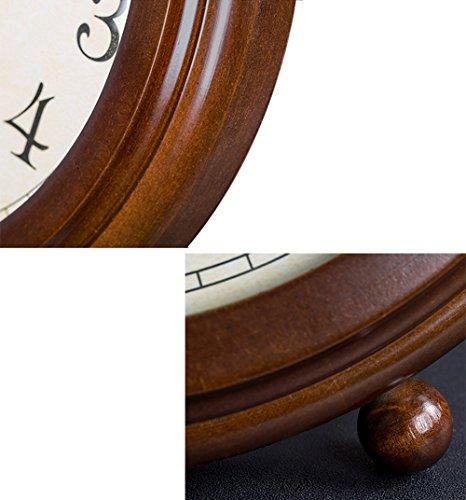 HAOFAY clock - Retro Vintage Mantel/European Modern Desktop Silent Quartz Clock Desk and Shelf Clock by HAOFAY (Image #3)