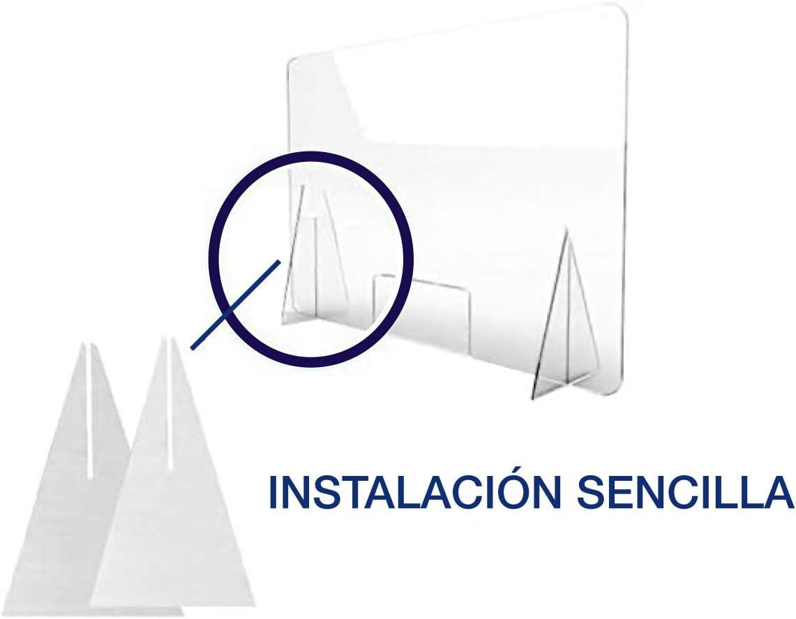 Mampara de metacrilato mostrador 5mm proteccion para oficinas mostradores manicura sobremesa material transparente (80X120): Amazon.es: Bricolaje y herramientas