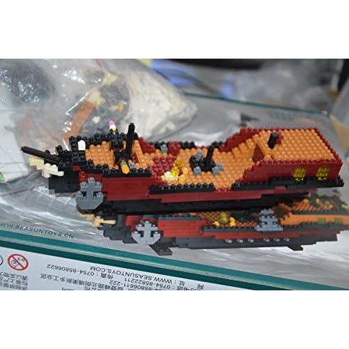 lovely Blomiky 780 pcs Building Blocks Model Sailing Pirate
