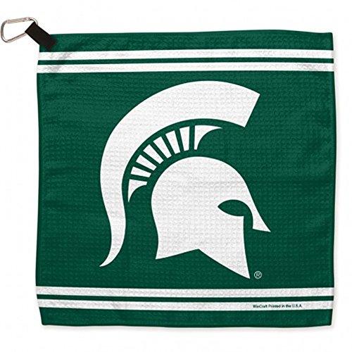 (WinCraft NCAA Michigan State University Waffle Towels, 13 x 13, Black)