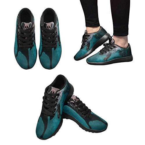 InterestPrint Womens Jogging Running Sneaker Lightweight Go Easy Walking Comfort Sports Running Shoes Dog In Water Multi 1 ow2NbxUy