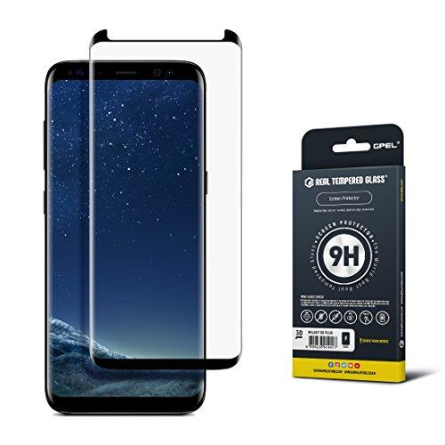 Gpel R114CG3DGS8PLBK Galaxy S8 Plus Screen Protector, GS8 Plus, Case Friendly, Tempered Glass, Premium Japanese Asahi Glass - Black