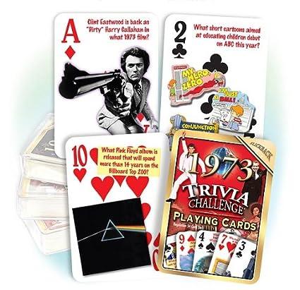Amazon Flickback 1973 Trivia Playing Cards Birthday Or