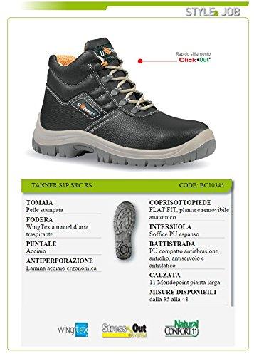 Sicherheit Nr. 41 in Anti-Schock-Außensohle geprägtes Leder-Obermaterial