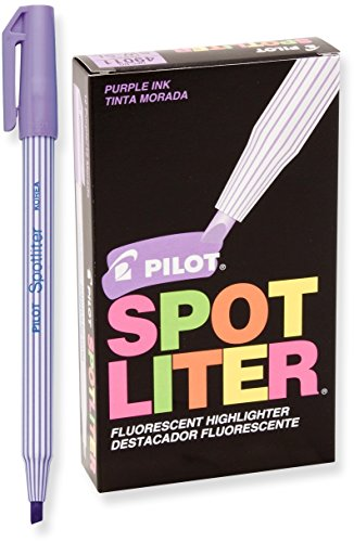 Pilot Spotliter Fluorescent Highlighters, Chisel Tip, Purple, Dozen Box ()