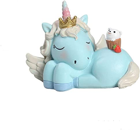 Un baby123 Cariño Unicornio Decoración Hornear Pastel Decoración Decoración Postre Juego de Mesa Decoración de Mesa (Color : Blue, Style : Sweet): Amazon.es: Hogar