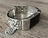 Silver Color Jewelry for Fitbit Charge 2 Band Silver Metal Bracelet for Fitbit Charge 2 Fitness Activity Tracker Vintage Tree Of Life Jewelry Adjustable Handmade Fitbit Charge 2 Band