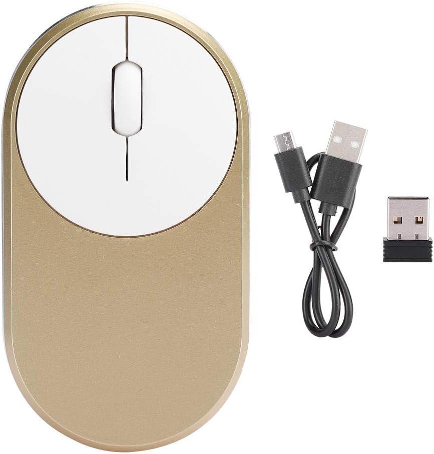 Souris sans Fil Portable, Souris de Jeu Bluetooth, Souris, pour Ordinateur Suppies pour PC pour Ordinateur Portable(Noble Silver) Local gold