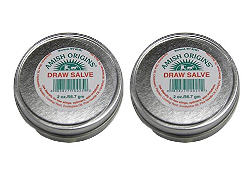 (Set of 2 Amish Origins 2 oz. Draw Salve Ointment Bundled by Maven Gifts)