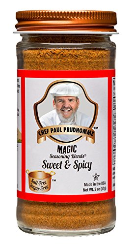 Chef Paul Prudhomme's Magic Seasoning Blends No Salt & No Sugar, Sweet and Spicy, 2-Ounce (Meat Seasoning Blend)