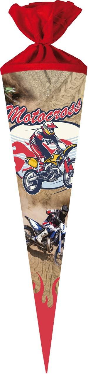 Nestler Schultüte 70cm rund Motocross Zuckertüte Schulanfang Einschulung Filz