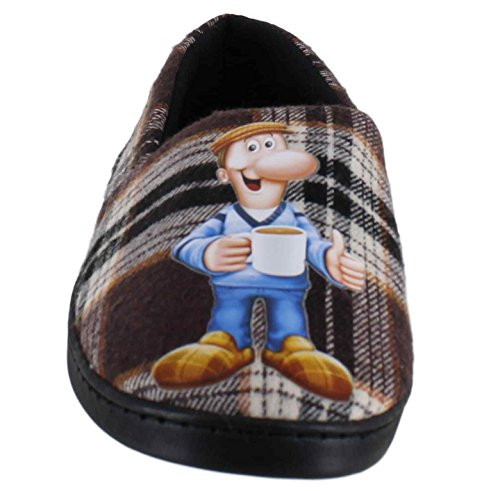 Tetley Tea Mens Novelty Mule Character Cushioned House Slippers Minehead-Full TvJ3Dg