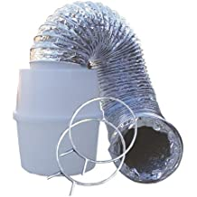 Speedi-Products EX-LTK 04 4-Inch by 60-Inch Lint Trap Kit with Bucket & Aluminum Silver Duct